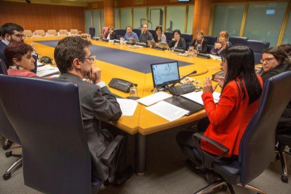 Nekane Balluerka en su comparecencia parlamentaria