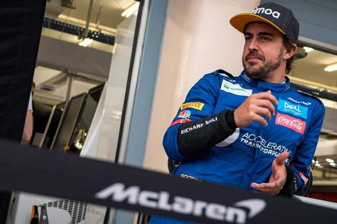 Fernando Alonso, durante los test en Sakhir.