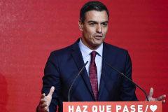 Pedro Sánchez, en la presentanción del lema de campaña del PSOE