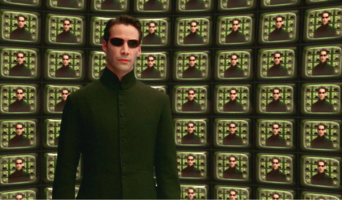 El actor Keanu Reeves en la película 'Matrix Revolution'