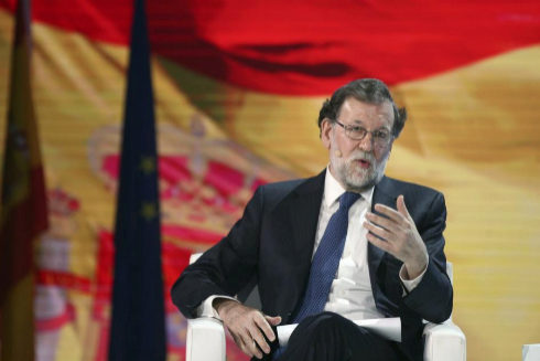 Mariano Rajoy, durante el Congreso del PP en el mes de enero