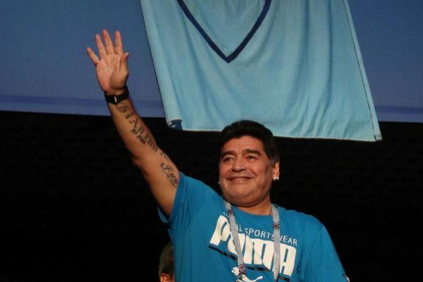 Maradona, en el Mundial de Rusia.