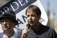 El líder de UPyD, Cristiano Brown, en un acto en abril de 2017