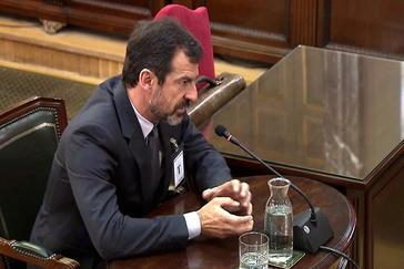 El comisario de los Mossos Ferran López, durante su declaración.