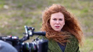 La actriz Nicole Kidman durante el rodaje de la película 'The...