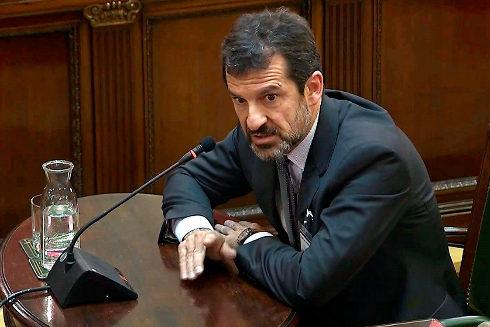 El coronel de los Mossos, Ferran López, durante el juicio del 1-O