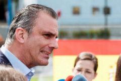 El secretario general de Vox, Javier Ortega Smith, en Canarias