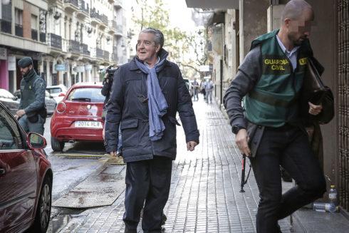 El abogado y cuñado de la ex alcaldesa de Valencia Rita Barberá, José Corbín, el pasado martes.