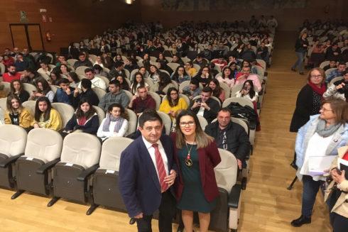 El presidente de la Diputación Francisco Reyes durante las jornadas de juventud.