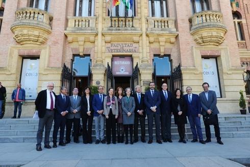 Reunión de los rectores andaluces con el consejero de Economía y Universidad.