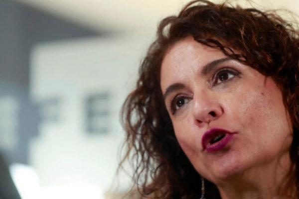 La ministra María Jesús Montero, duranet la entrevista.