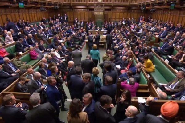 El Parlamento británico, durante la votación del Brexit