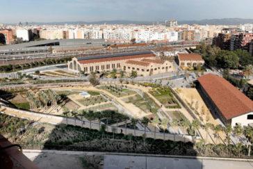 Vista área del Parque Central.