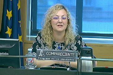 María Sevilla, durante su comparecencia en el Congreso en 2016.