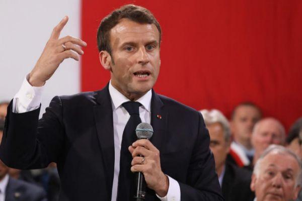 El presidente francés, Emmanuel Macron, en Córcega.