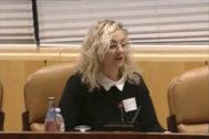 María Sevilla, en la Asamblea de Madrid en diciembre de 2016.