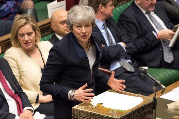 La primera ministraTheresa May, el miércoles en el Parlamento.