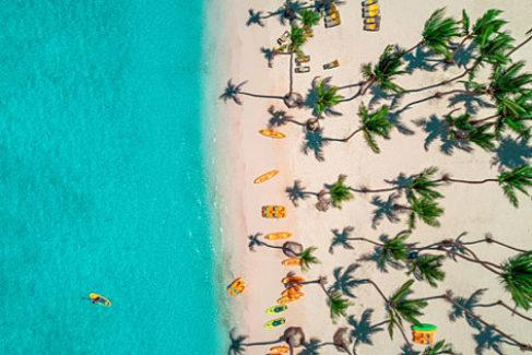 Punta Cana, playa de postal de República Dominicana.