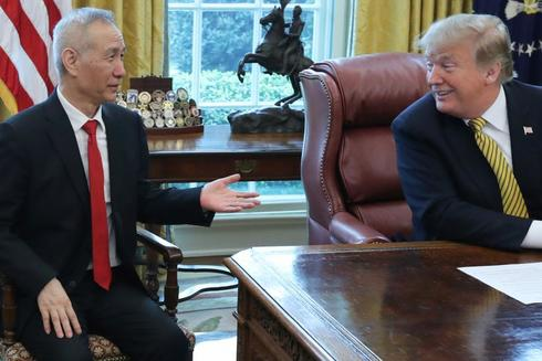 U.S. President Donald Trump meets with China's Vice Premier...