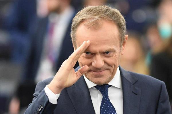 El presidente del Consejo Europeo, Donald Tusk, en Estrasburgo.