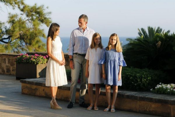 Posado de la Familia Real en La Almudaina el pasado verano.