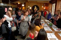 La presidenta regional del PP valenciano, Isabel Bonig, ayer en un encuentro con mujeres.