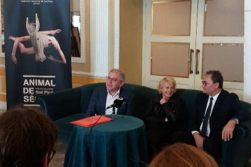 Guarinos, Picó y Sanguino, en la presentación.