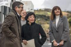 Patxi López, Isabel Celáa e Idoia Mendia.