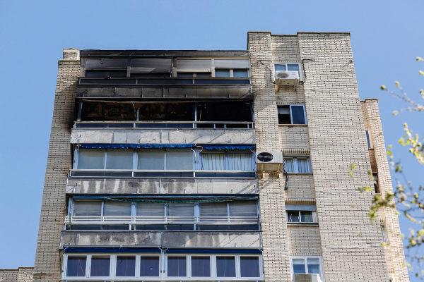 El edificio donde se produjo el incendio.