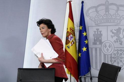 Isabel Celaá, tras la rueda de prensa del Consejo de Ministros.