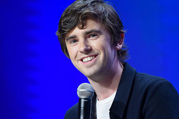 El actor Freddie Highmore.