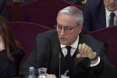 Xavier Melero, abogado de Joaquim Forn, en la sesión del juicio celebrada este jueves.