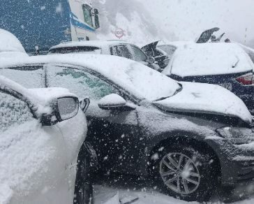 35 heridos en un accidente en cadena en la A-1 en Somosierra con 50 vehículos implicados