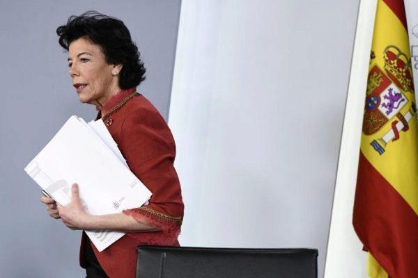 Isabel Celaá, durante la rueda de prensa del Consejo de Ministros.