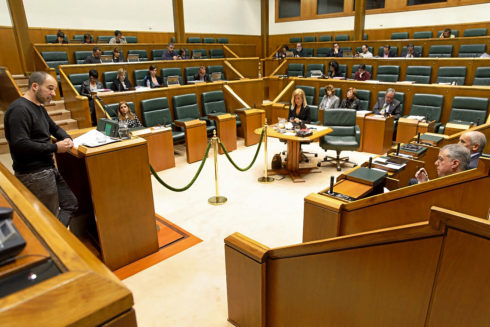 El Parlamento vasco durante la sesión de este jueves