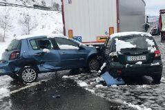 35 heridos en un accidente en la A1 en Somosierra con 50 vehículos implicados