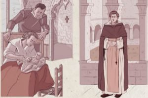La vida i l'obra de Sant Vicent Ferrer, feta còmic