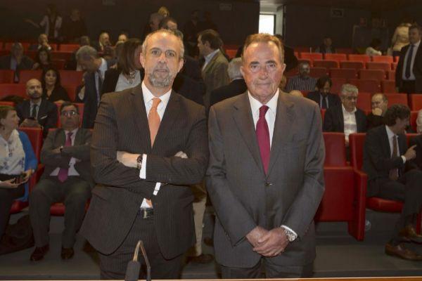Perfecto Palacio (CEV) y Juan Riera (Cámara de Comercio), el pasado viernes durante la presentación del estudio.