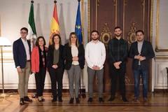 La cúpula del Consejo de la Juventud, con SusanaDíaz en San Telmo cuando era presidenta de la Junta.