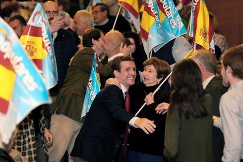 Pablo Casado, en un acto del PP en Salamanca