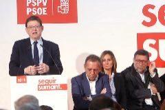 El candidato del PSPV, Ximo Puig, ayer en un acto en Castellón.