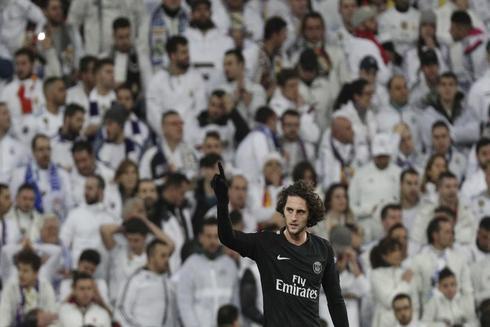 Rabiot celebra un gol en el Bernabéu ante el Real Madrid