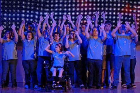 El grupo de Danza Teatro Inclusivo Entrelazados.
