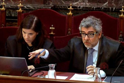 El abogado Jordi Pina durante una sesión del juicio del 1-O