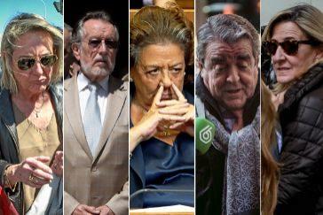 García Fuster, Alfonso Grau, Rita Barberá, José María Corbín y Asunción Barberá.