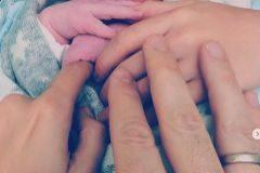 Imagen compartida por David Bisbal para anunciar el nacimiento de su segundo hijo.