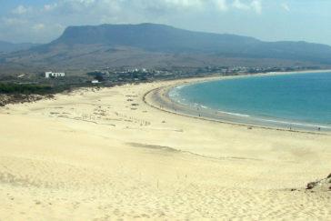 La playa de Valdevaqueros en Tarifa.