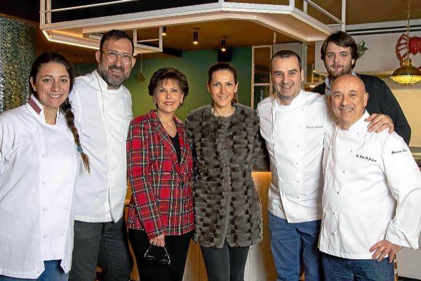 Claudia Coma, Oscar Manresa, Rosa Pons, Meritxell Marsà Pons, Romain Fornell, Gregorio Ras y Bernard Bach. EL MUNDO