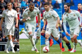 De izda a dcha: Bale, Benzema, Asensio e Isco.
