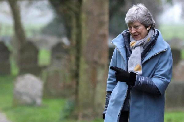 La primera ministra británica, Theresa May, en High Wycombe.